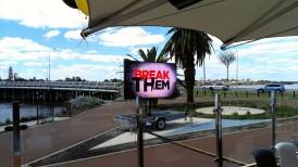 Trailer LED Screen broadcasting AFL Grand Final