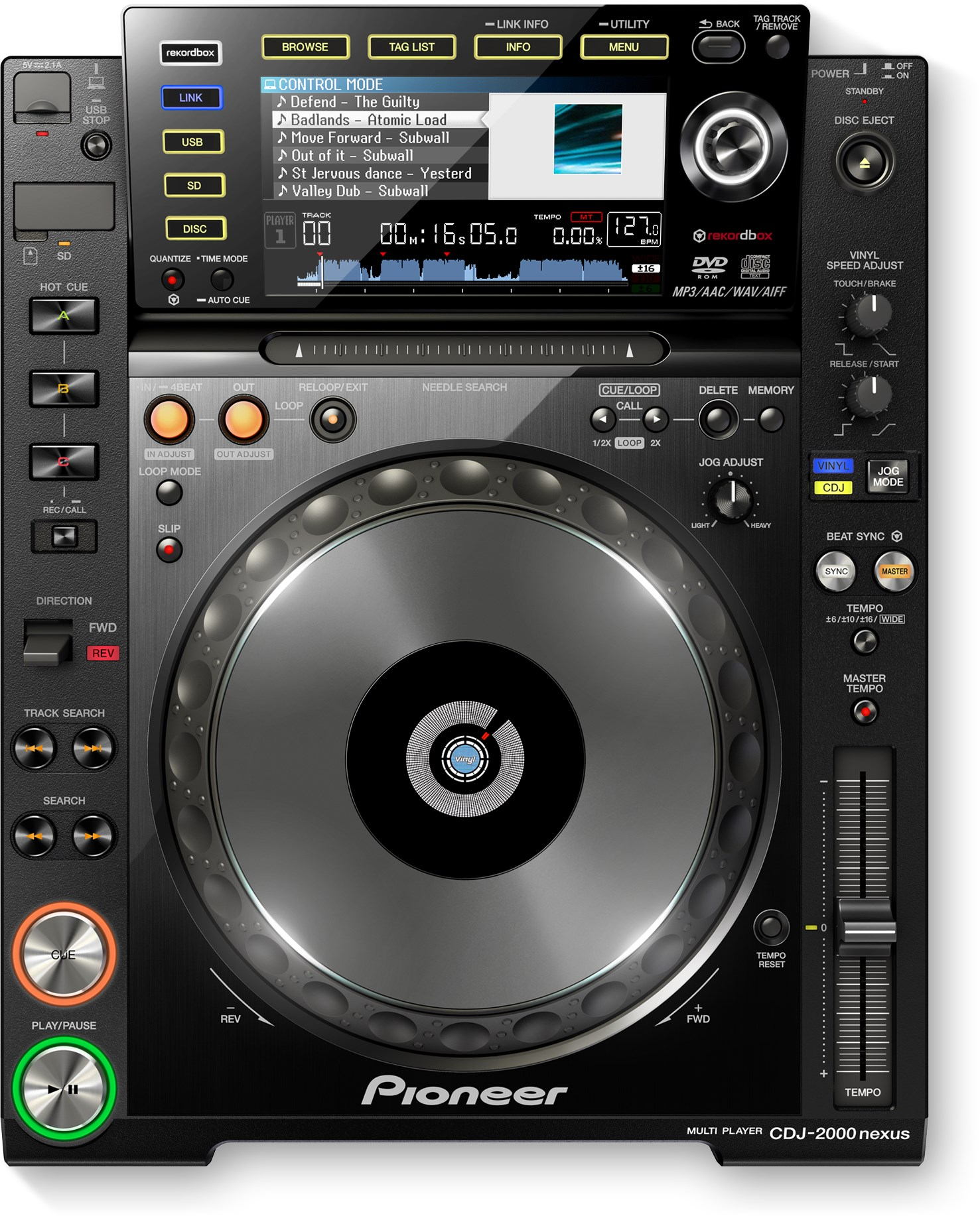 pioneer cdj 2000 nexus mega vision. Black Bedroom Furniture Sets. Home Design Ideas
