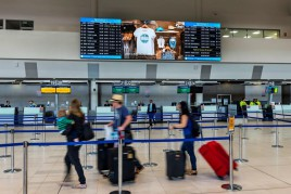 Perth International Airport LED screens