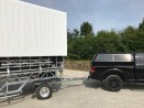 Trailer in transport -being towed