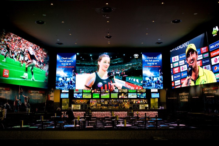 Carbon Sports Bar Crown Casino Perth Mega Vision